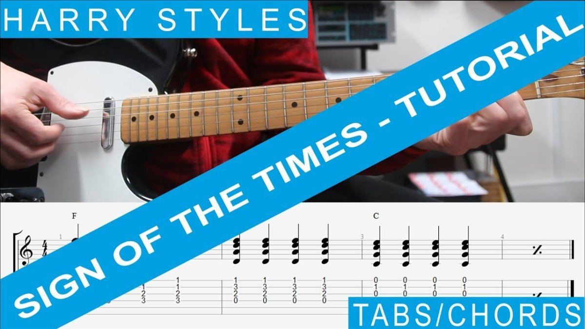 Harry Styles Sign Of The Times Tabs Tutorial Guitar Lesson