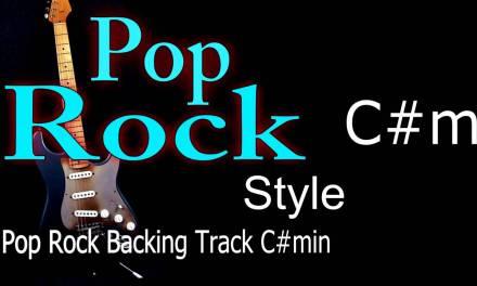 Pop Rock Guitar Backing Track C#min 150 Bpm Highest Quality