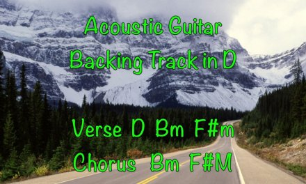 Acoustic Guitar Backing Track in D