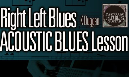 Right Left Blues: by Kevin Duggan, Acoustic Blues Guitar Lesson MDBG