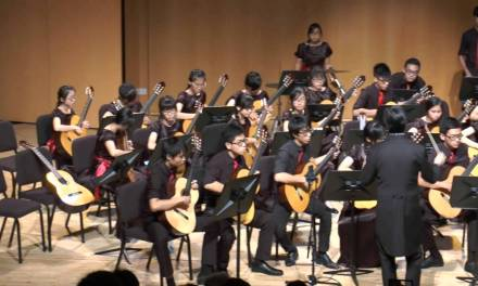 Guitar Lesson Singapore – Pirates of the Caribbean performed by AJC Guitar Ensemble 2014