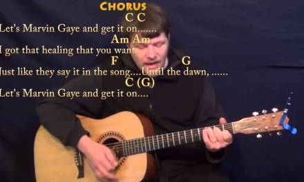 Marvin Gaye (Charlie Puth) Strum Guitar Cover Lesson in C with Chords/Lyrics