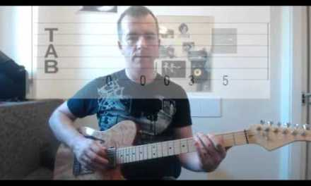 Start learning guitar 03 – Plectrum tips and Green Onions