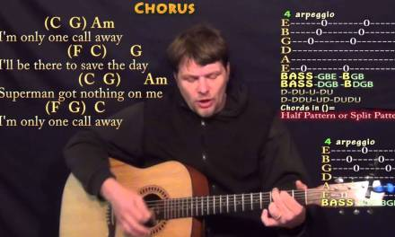 One Call Away (Charlie Puth) Strum Guitar Cover Lesson in C with Chords/Lyrics