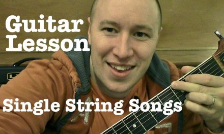 Single String Songs for Guitar Lesson- Smoke on the Water, Ironman, Eye of the Tiger etc.