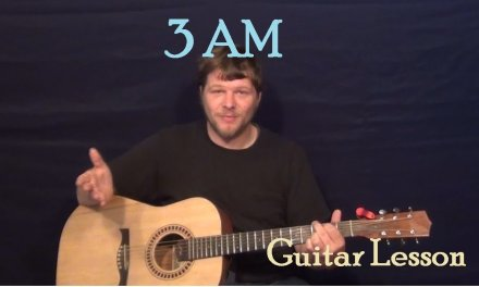 3AM (Matchbox Twenty) Easy Guitar Lesson How to Play Tutorial Capo 1st