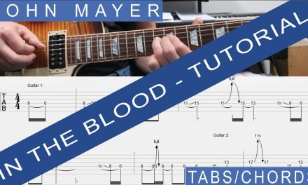 John Mayer – In the Blood, COMPLETE GUITAR LESSON, Tutorial, Chords, TABS, Rhythm, SOLO