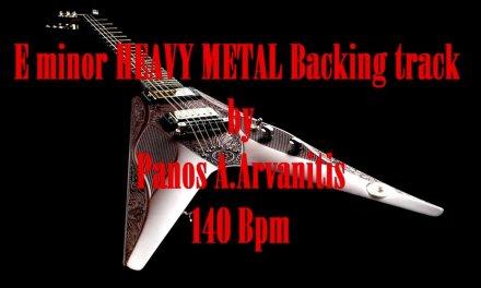 E minor HEAVY METAL Backing Track 140 Bpm