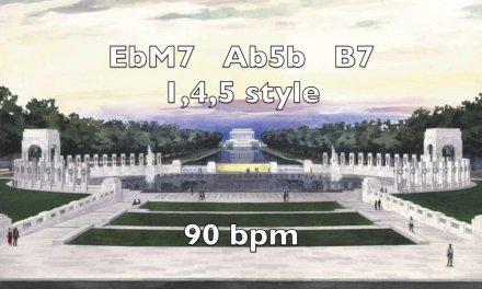 EbM7 Smooth Backing Track 90 bpm