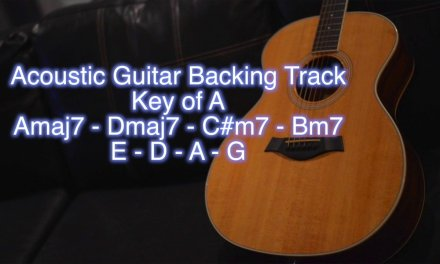 Acoustic Guitar Backing Track – Key of A