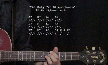"""The Only Two Blues Chords!!"" : 365 Riffs For Beginning Guitar !!"