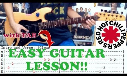 Californication – Red Hot Chili Peppers(Easy Guitar Lesson/Cover)with Chords and Tab