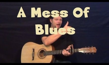 A Mess Of Blues (Elvis) Easy Guitar Lesson Strum Chord Blues Licks Solo How to Play Tutorial