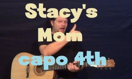 Stacy's Mom (Fountains of Wayne) Easy Strum Guitar Lesson How to Play Tutorial Capo 4th