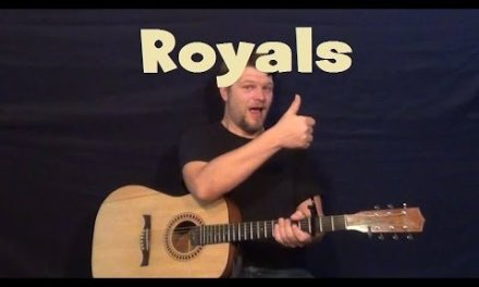 Royals (Lorde)  Easy Guitar Lesson Strum Chords G C D How to Play Tutorial