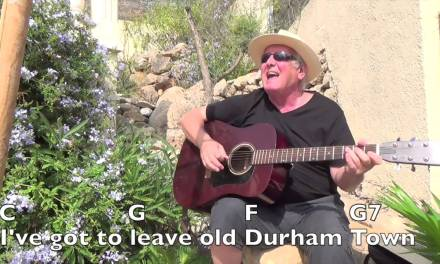 Durham Town – Roger Whittaker cover – easy chords guitar lesson with  on-screen chords and lyrics