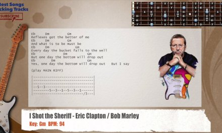 I Shot the Sheriff – Eric Clapton / Bob Marley Guitar Backing Track with chords and lyrics