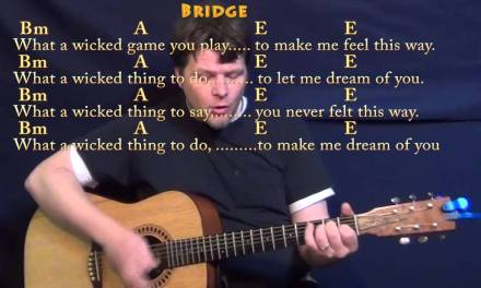 Wicked Game (Chris Isaak) Guitar Cover Lesson with Chords/Lyrics – Bm A E