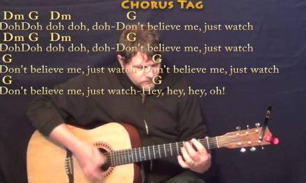Uptown Funk – Strum Guitar Cover Lesson with Chords/Lyrics
