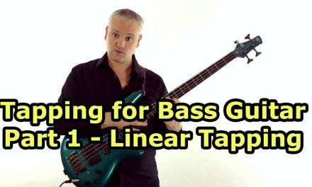 Tapping For Bass Guitar Lesson – Fast Van Halen / Billy Sheehan style Linear Tapping