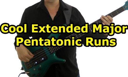 Cool Extended Major Pentatonic Runs