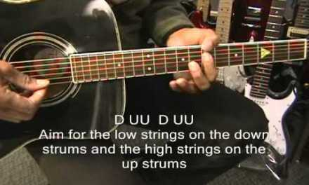 Strumming Pattern Guitar Lesson How To Play Toto Style D UU D UU Strum Tutorial