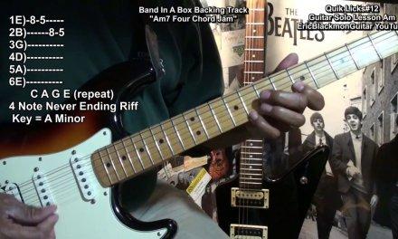Quik Licks Guitar Solo Lesson In A Minor FunkGuitarGuru Funk