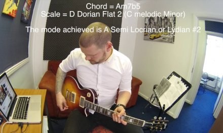 Learn Jazz Guitar – Make Melodic Minor Easy! Lesson five – Locrian #2