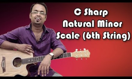 How To Play – C Sharp Natural Minor Scale (6th String) – Guitar Lesson For Beginners