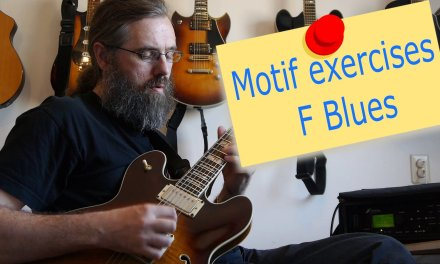 Motif Exercises  – F Jazz Blues – Jazz Guitar Lesson on motif playing