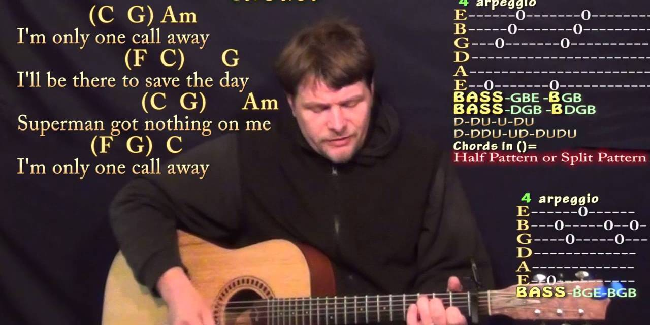 One Call Away Charlie Puth Strum Guitar Cover Lesson With Chords