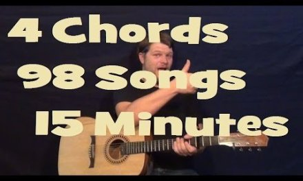 98 Songs, 4 Chords, 15 Minutes – Easy Guitar Lesson How to Play Tutorial G Em C D – Beginner Songs