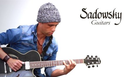Sadowsky Guitar Semi Hollow demo + Slow Blues Backing track in Fm