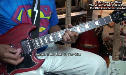The Who I CAN SEE FOR MILES Electric Guitar Cover + Lesson Link EricBlackmonMusicHD