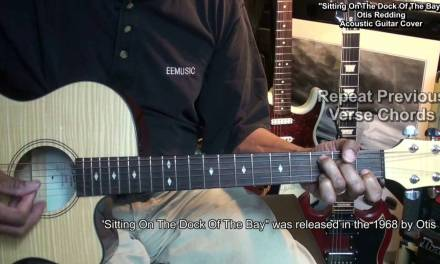 Sitting On The Dock Of The Bay Easy Chord Guitar Lesson Link Cover EricBlackmonGuitar