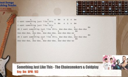 Something Just Like This – The Chainsmokers & Coldplay Guitar Backing Track with chords and lyrics