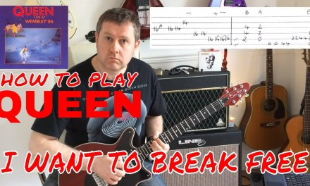 Queen – I Want To Break Free – Wembley 86 – Guitar Lesson (Guitar Tab)