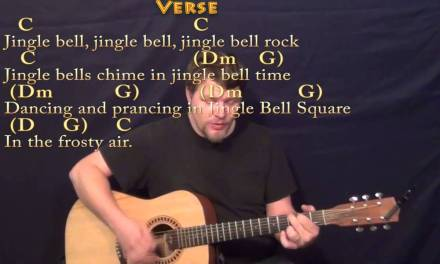 Jingle Bell Rock – Strum Guitar Cover Lesson in C with Chords/Lyrics