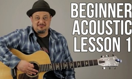Beginner Acoustic Lesson 1 – Your Very First Guitar Lesson – Eminor and A sus2