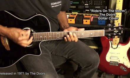 RIDERS ON THE STORM The Doors Guitar Strumming & Solo Cover  EricBlackmonMusicHD
