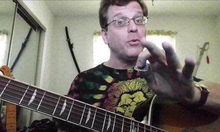 Left Handed Guitar Lessons – Weird Power Chords, Harmonic, Strange Sounding…..