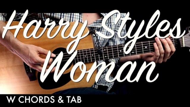 Harry Styles – Woman Guitar Tutorial Lesson w Chords & TAB / Guitar ...