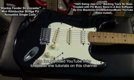 1625 Jazz Backing Track C Major (Bass Muted)  For Bass Guitar Practice