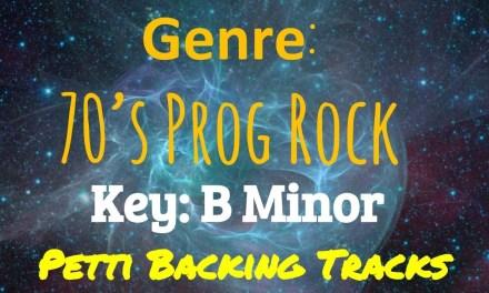B Minor – 70's Prog Rock Guitar Backing Track