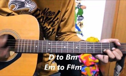 Aahatein – Splitsvilla Theme Song – Romantic Guitar cover lesson chords hindi