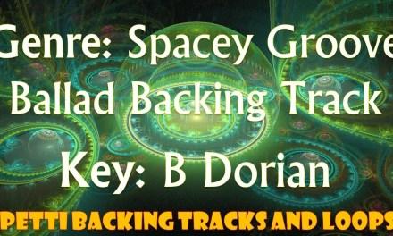 B Dorian – Spacey Groove Ballad Guitar Backing Track