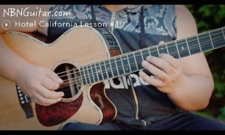 Hotel California Acoustic Solo Lesson #1   The Eagles   Acoustician Style Solo
