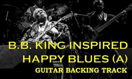 Guitar backing track – B.B. King inspired happy blues in A