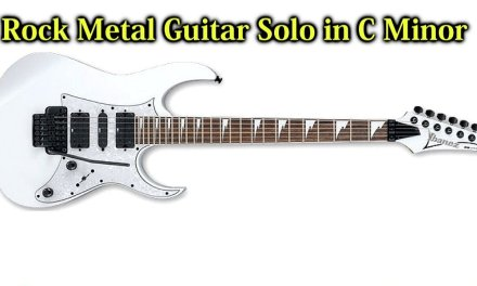 Epic Rock Metal Backing Track Guitar Solo in C Minor