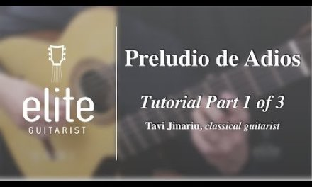 Learn to play Preludio de Adios – EliteGuitarist.com Classical Guitar Tutorial Part 1/2